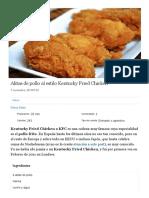 Alitas de pollo al estilo Kentucky Fried Chicken