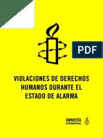 Informe d'Amnistia Internacional