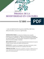 KAREN CONTRERAS 11C PÉRDIDA DE LA BIODIVERSIDAD EN COLOMBIA