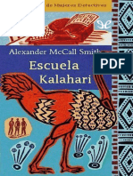 McCall Smith, Alexander - [Primera agencia de mujeres detectives 04] Escuela Kalahari [44109] (r1.0).epub