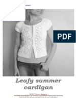 Leafy summer cardigan  - russian