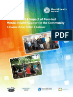 Impact of Peer Led Mental Health Support in the Community