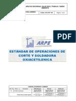 ESTANDAR SST-ACG N. 006- Estándar de Operaciones de Corte y Soldadura