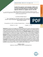 Evaluación de la satisfacción de los usuarios con la atención recibida en la Unidad de Odontología Forense del Departamento de Medicina Legal del …