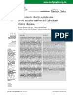 Evaluación del nivel de satisfacción de los usuarios externos externos de un laboratorio clinico