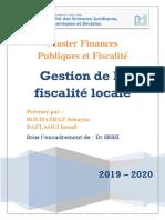 Exposé 4 Gestion de la fiscalité locale VF
