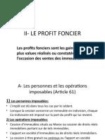 EXPOSE PROFIT FONCIER