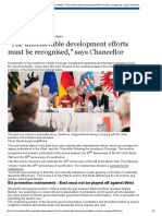 Bundeskanzlerin _ News _ _The unbelievable development efforts must be recognised,_ says Chancellor
