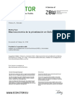 Macroeconomía de la Privatización en Bolivia