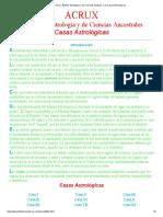 Acrux, Boletín Astrológico y de Ciencias Antiguas. Las Casas Astrológicas_