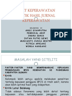 KRITIK HASIL JURNAL KEPERAWATAN Kel.4