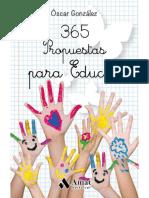 365 propuestas para educar. Las mejores citas, frases, aforismos y reflexiones sobre educación