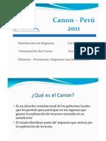 Estadísticas Canon - Perú 2011