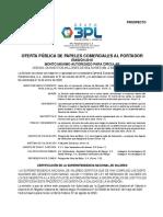 Prospecto de 3PL Panamericana, C.A. | Papeles Comerciales 2020