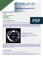 XML Gauge Design for FS