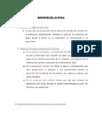 REPORTE DE LECTURA DIRECCION