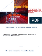 Session 14. The Search For Entrepreneurial Capital