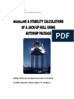 Modelling & Stability of an Offshore Jack-up Using Autoship Package