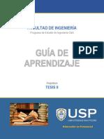 GUIA APRENDIZAJE  TESIS II -TEMA 3