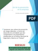 SESION 12 planificacion de la prevencion en la empres APPSS 2