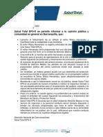 Comunicado de Prensa Salud Total EPS-S Barranquilla (1)
