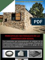 1. MATERIALES CONGLOMERANTES EN CONSTRUCCIÓN RURAL
