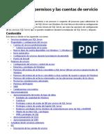 Configurar los permisos y las cuentas de servicio de Windows