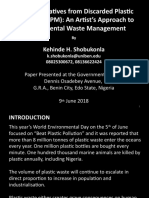 Eco-Art Initiatives of Discarded Plastic Materials (DPM) - An Artist's Approach to Environmental Waste Management.pptx