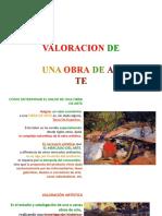 VALORACION DE LAS ARTES