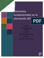Elementos de una planeación didáctica