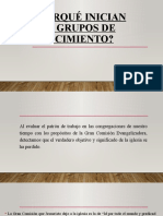 PORQUÉ INICIAN LOS GRUPOS DE CRECIMIENTO