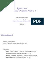 1. Matrizes e Sistemas de Equações