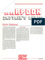 Harpoon Captain's Rules + Captain's Briefing + errata + game reference chart [GDW 0717]