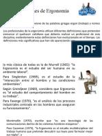 1. Consideraciones generales, definicion de la ergonomia