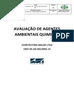 AVALIAÇÃO DE AGENTES AMBIENTAIS QUIMICOS lojas renner Mauad 2018
