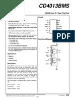 datasheet CD4013BMS