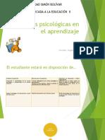 Clase Teorías Psicologicas en el aprendizaje II 2017-1