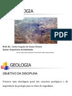 AULA GEOLOGIA