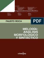 Melodía. Análisis morfológico y sintáctico