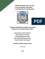 ACTIVIDAD PRODUCTIVA Y EL EMPLEO - ECONOMIA FINAL