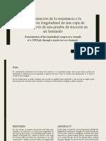 (Traducción) Determinación de la resistencia a la compresión longitudinal - Tarea 1