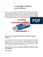 How to Create a Bootable USB Drive Without Using Any Software