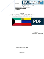 Ensayo Convenio Kuwai y Venezuela