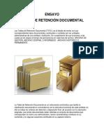 ENSAYO TABLA DE RETENCIÓN DOCUMENTAL