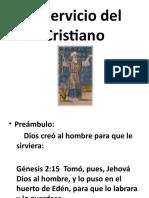 El Servicio del Cristiano