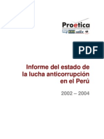 Informe del Estado de la Lucha Anticorrupción en el Perú, 2002 - 2004