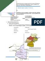 Resumen Ejecutivo huaytara Agua Potable