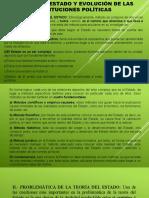 TEORIA DEL ESTADO Y EVOLUCION DE LAS INSTITUCIONES POLITICAS