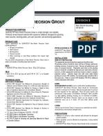 data_sheet-non-shrink precision grout 1585-00