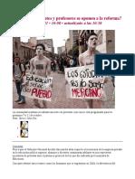¿Por qué estudiantes y profesores se oponen a la reforma_ [06-10-11]